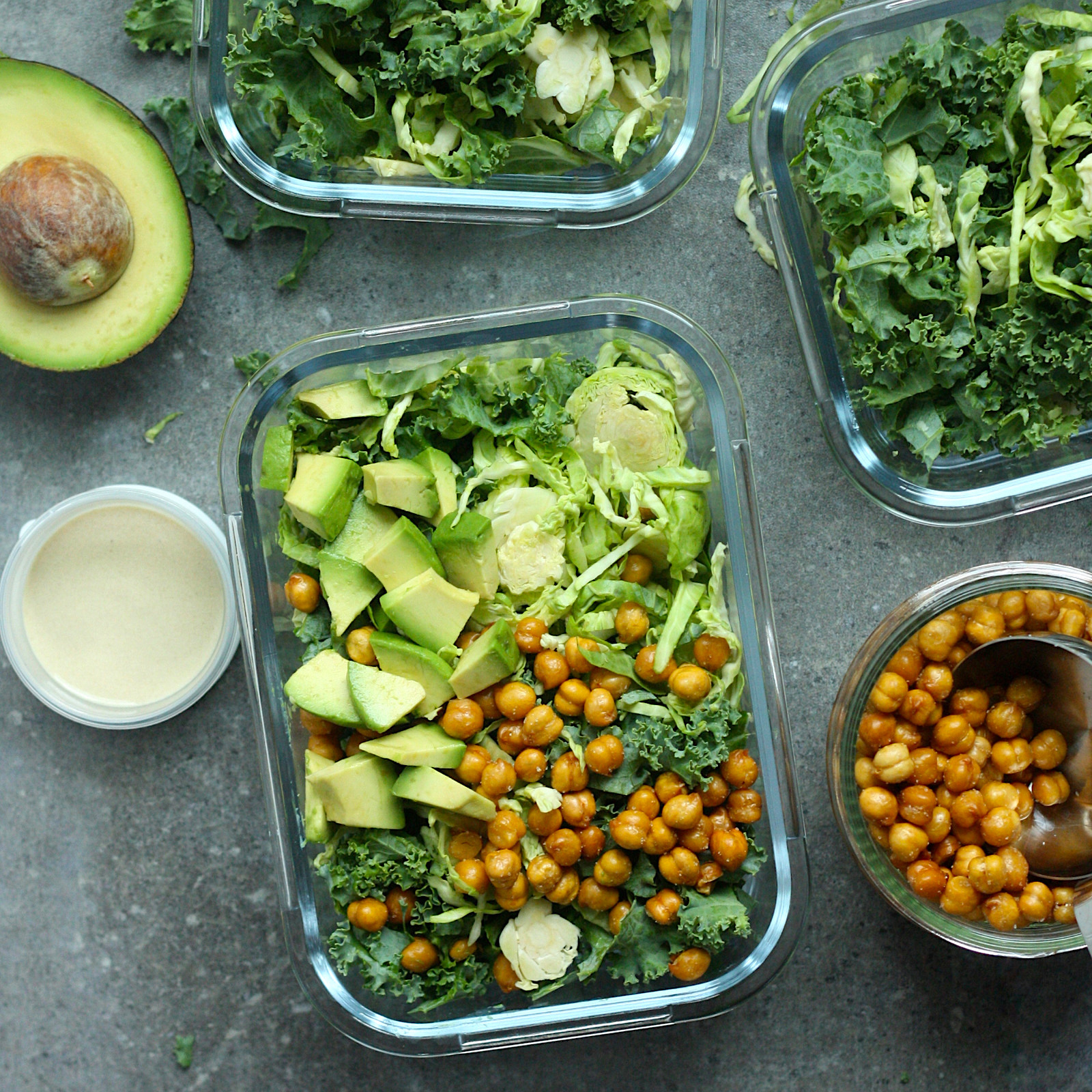 This healthy high-fiber salad comes together in just 10 minutes. Serve it right away or pack it in individual servings for four super-satisfying high-fiber lunches for the week ahead. To cut down on prep time, we're using preshredded Brussels sprouts from the produce department and store-bought roasted chickpeas. Look for roasted chickpea snacks with the healthy snacks or nuts at your grocery store.