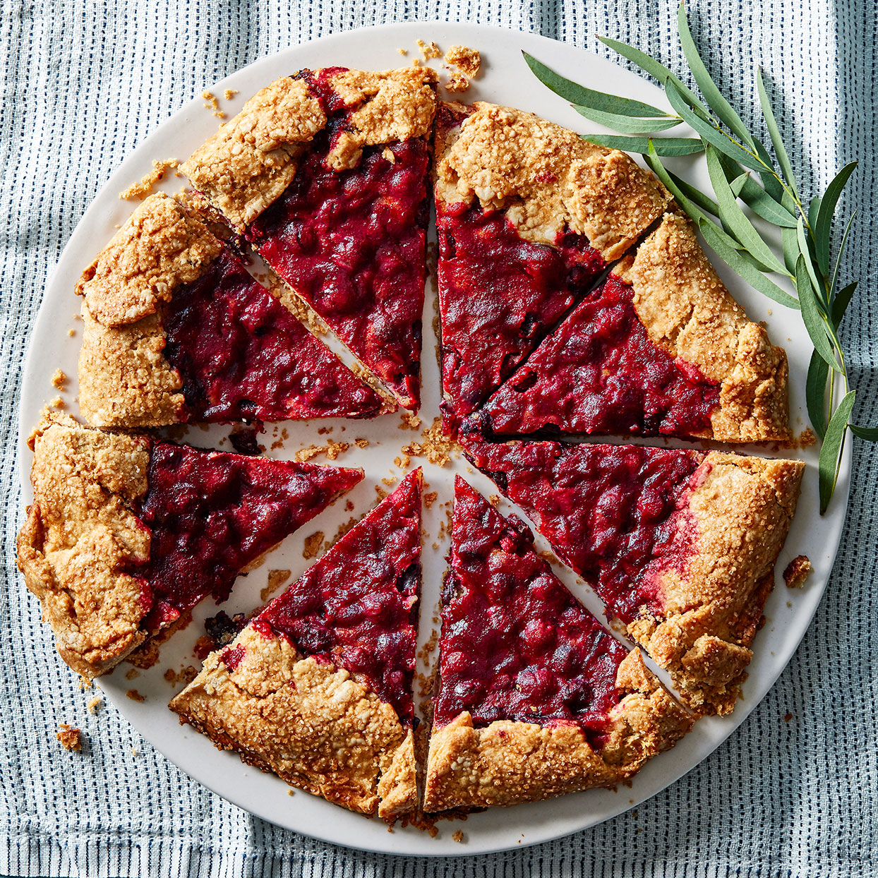 Expand your holiday desserts repertoire with this cranberry galette. Frangipane is a sweet pastry cream typically made with ground almonds; here we substitute ground sesame seeds in the form of tahini to give it a complex, earthy flavor.