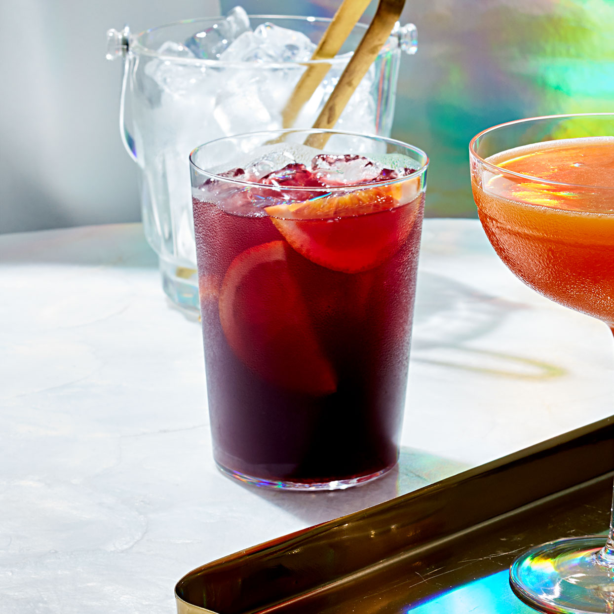 Kombucha gives a nice fizz to this holiday sangria. Bonus: It's full of probiotic bacteria that may help maintain a healthy gut.