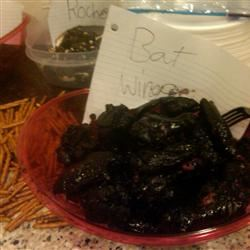 Bat Wings (Halloween Sweet Wing Appetizer) Deborah McCarthy