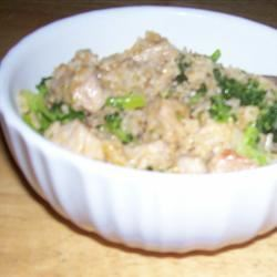 Brown Rice, Broccoli, Cheese and Walnut Surprise Alex