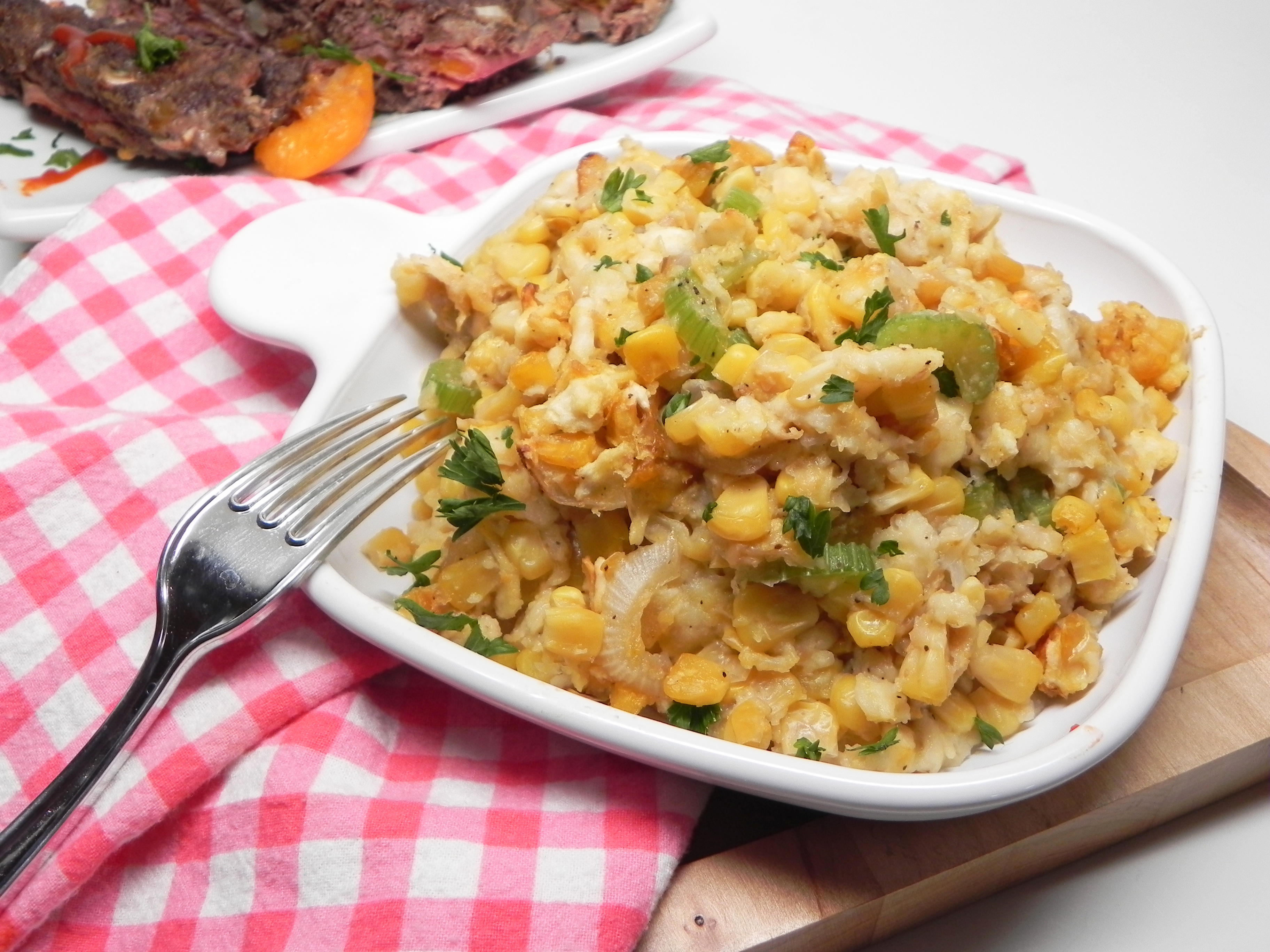Corn Casserole with Crackers_image