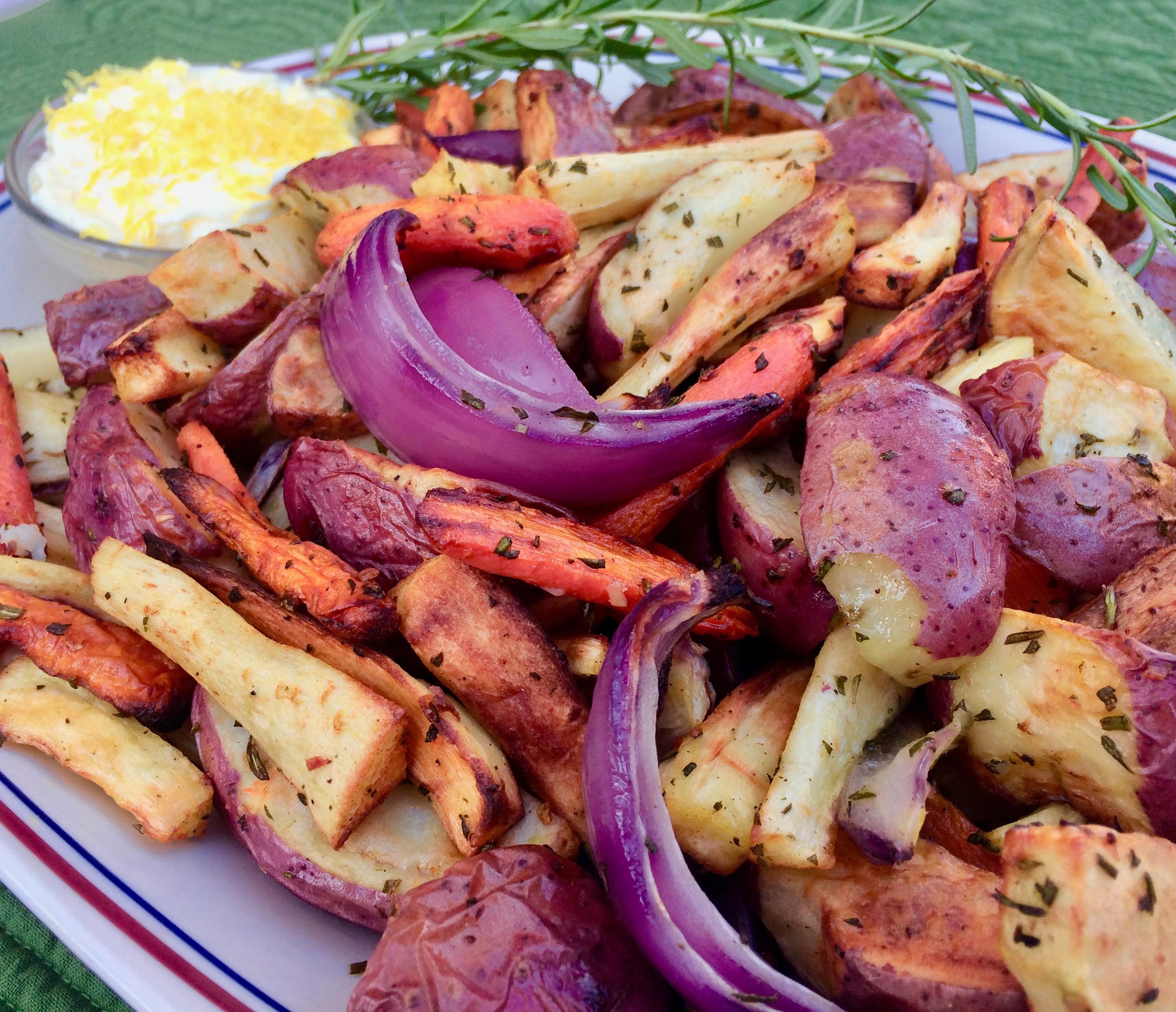Air Fryer Root Vegetables With Vegan Aioli Recipe Allrecipes Com