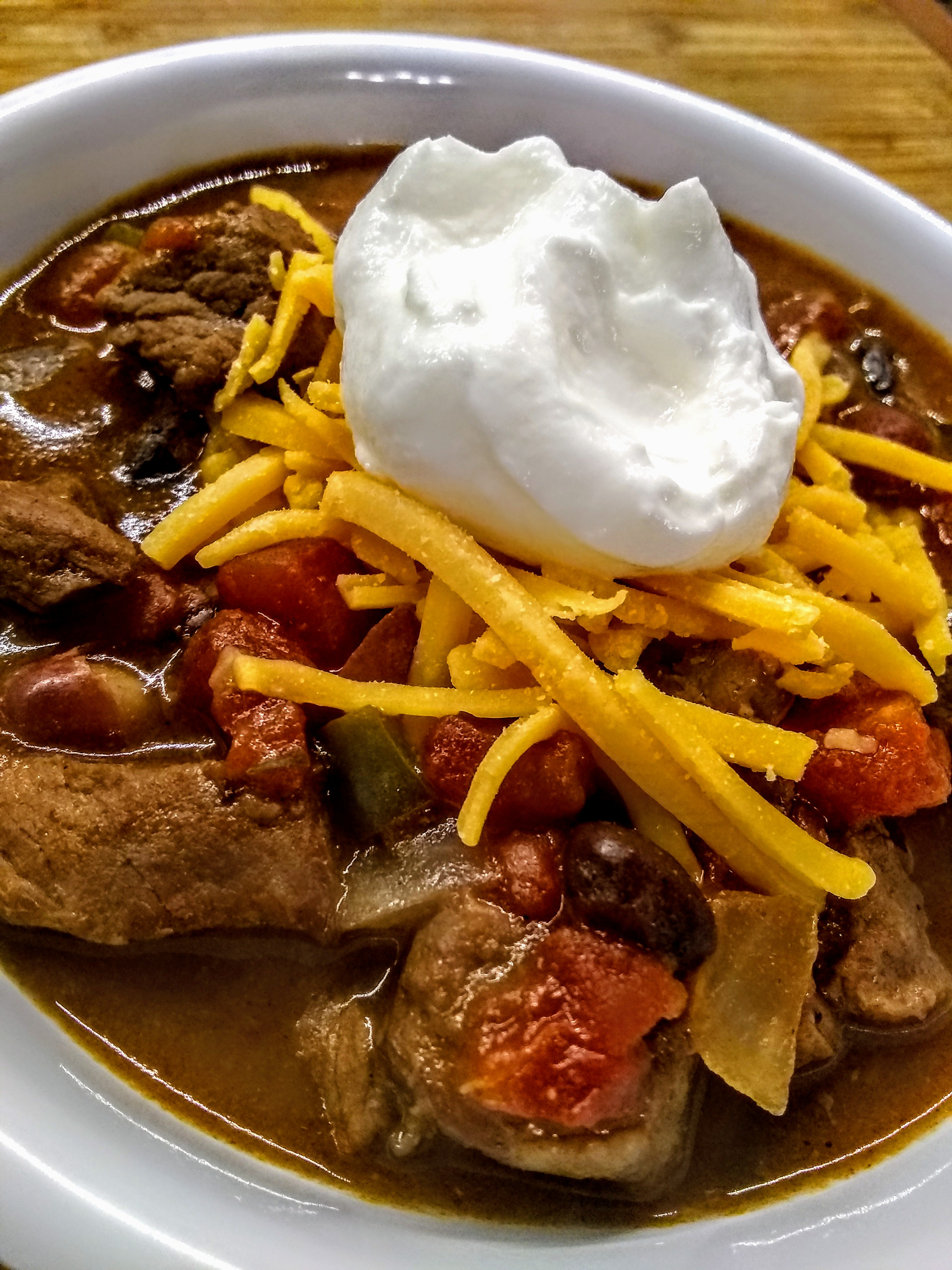 Slow Cooked Stew Meat Chili Recipe Allrecipes