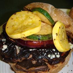 Grilled Veggie-Portobello Mushroom Burgers