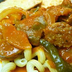 Easy Sausage, Peppers and Onions with Elbows image