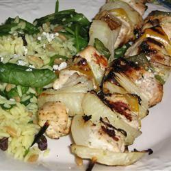 Marinated Greek Chicken Kabobs