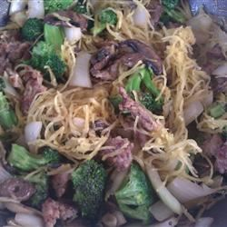 Spaghetti Squash with Italian Sausage, Broccoli, and Sage Robin Knight