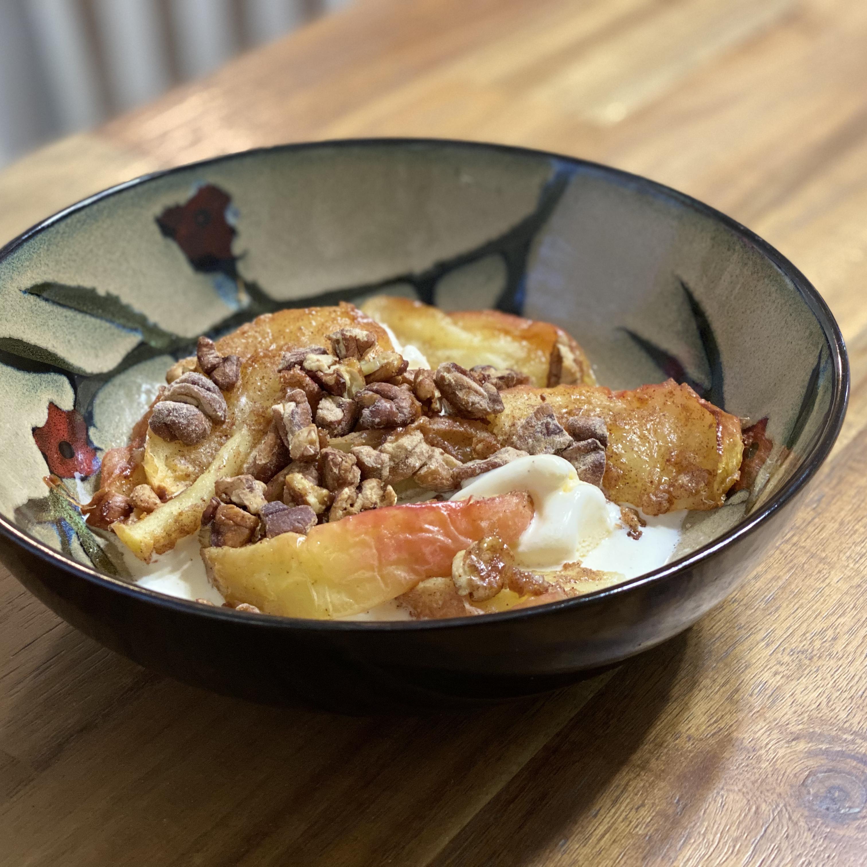 Air Fryer Brown Sugar and Pecan Roasted Apples image