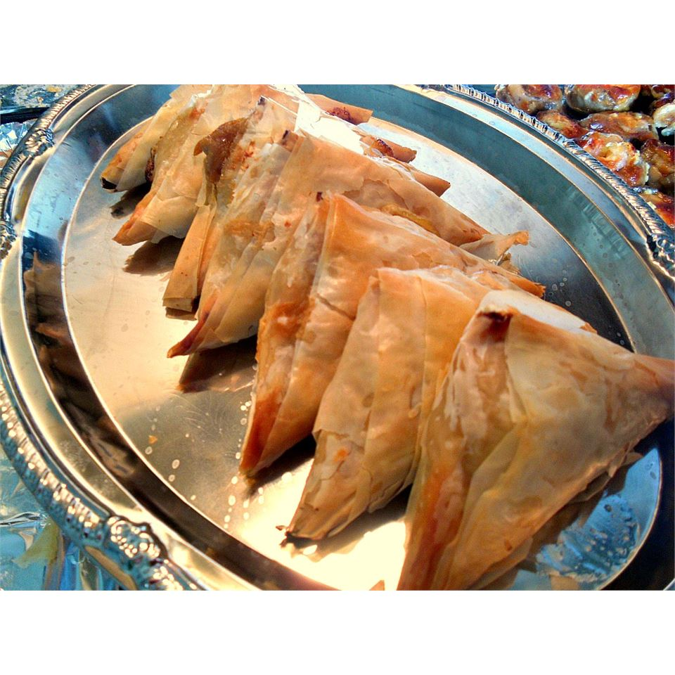 Pear and Blue Cheese Pastry Triangles Caroline