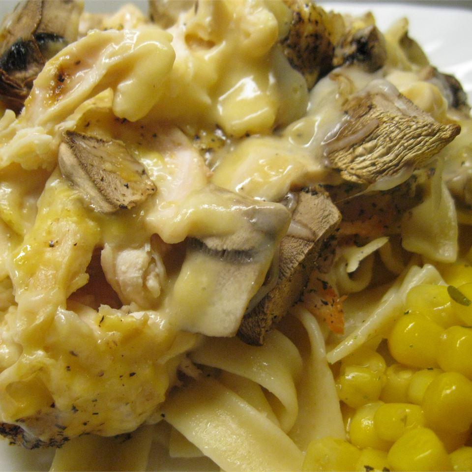 Creamy Swiss Chicken Casserole