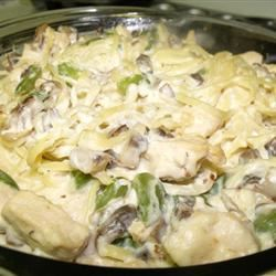 Mushroom Chicken Tetrazzini