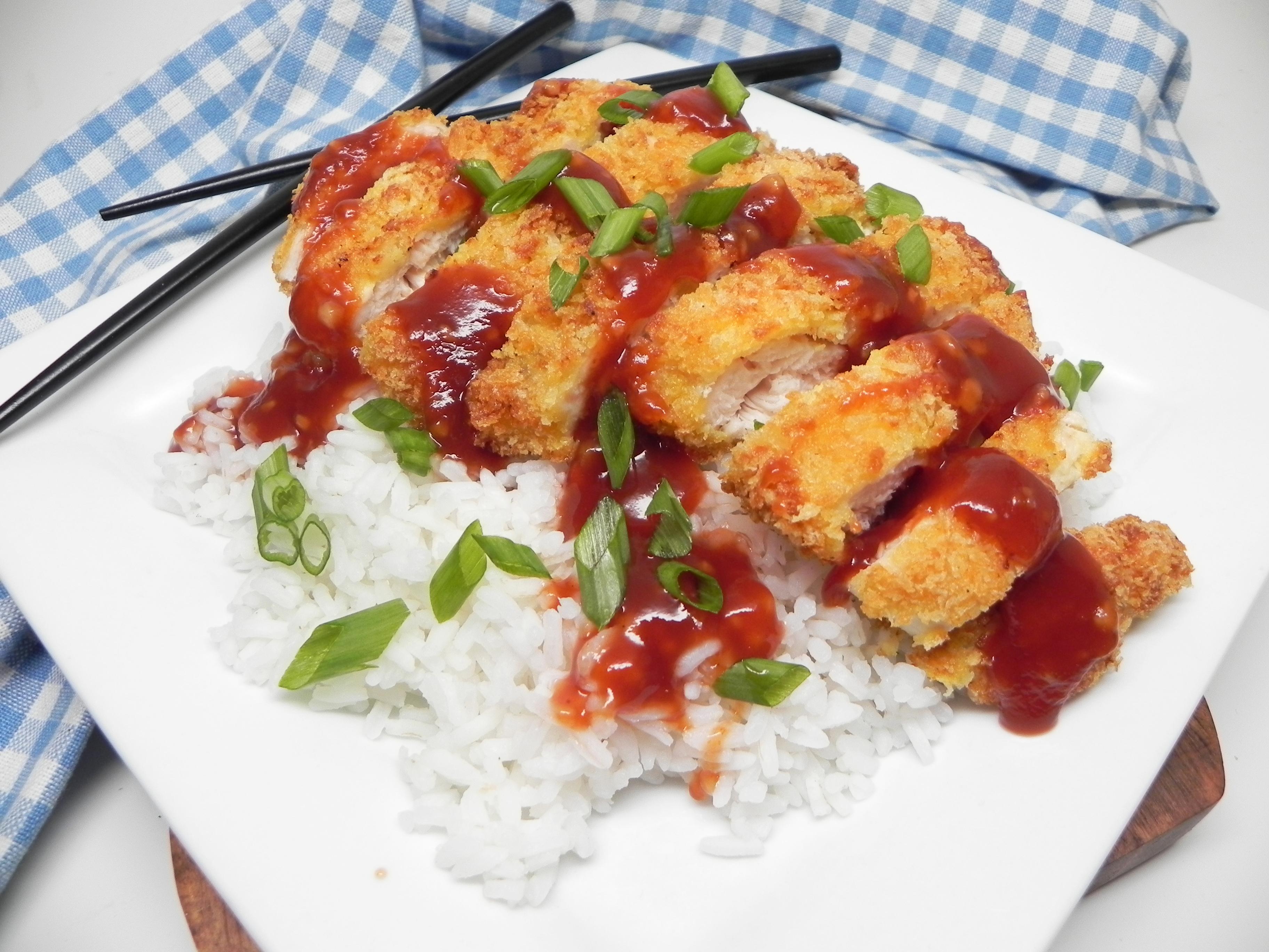 Air Fryer Chicken Katsu With Homemade Katsu Sauce Recipe Allrecipes