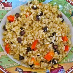 Brown Rice with Black Beans and Peppers