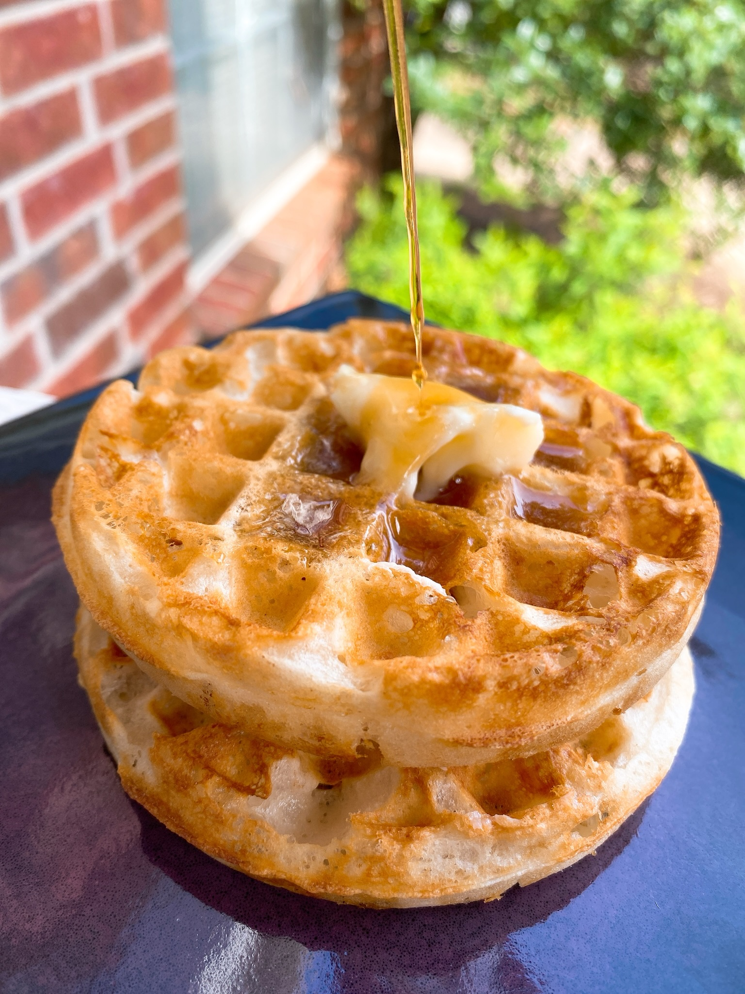 Crispy Eggless Waffles_image