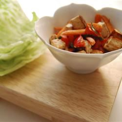 Tofu and Veggies in Peanut Sauce fashionistamm