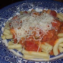 Rigatoni Pasta with Chorizo CookinBug