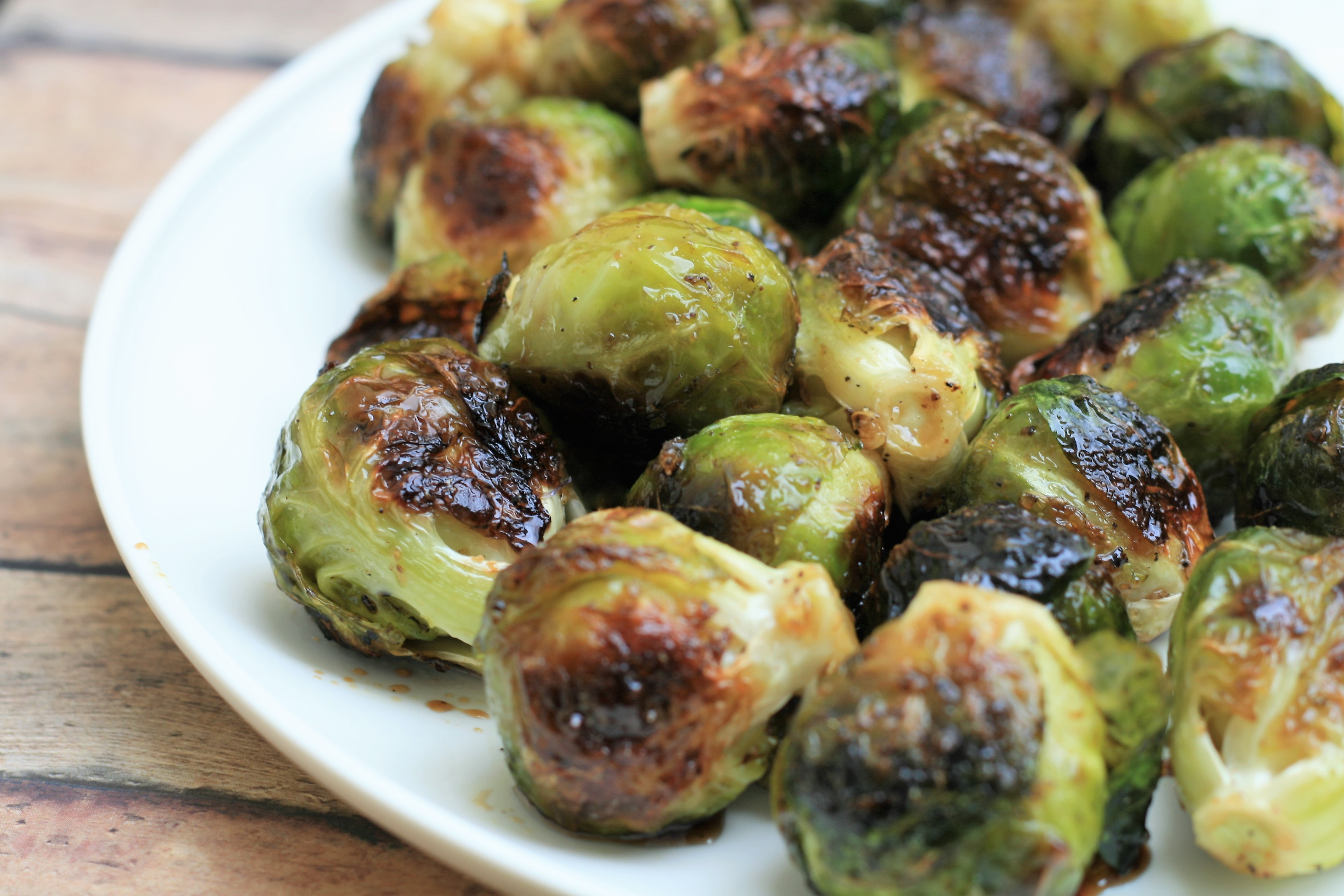 Roasted Brussels Sprouts with Balsamic and Honey image