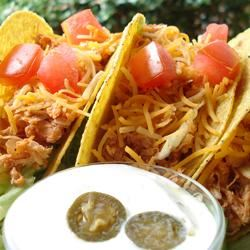 Sarah's Easy Shredded Chicken Taco Filling