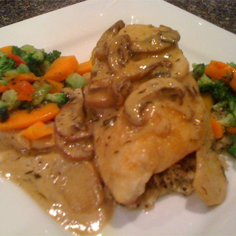 Chicken Calvados thedailygourmet