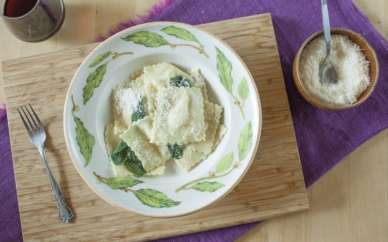 Homemade Pear and Gorgonzola Ravioli
