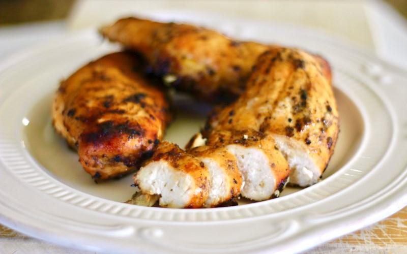 Grilled Ginger-Peach Chicken Breast
