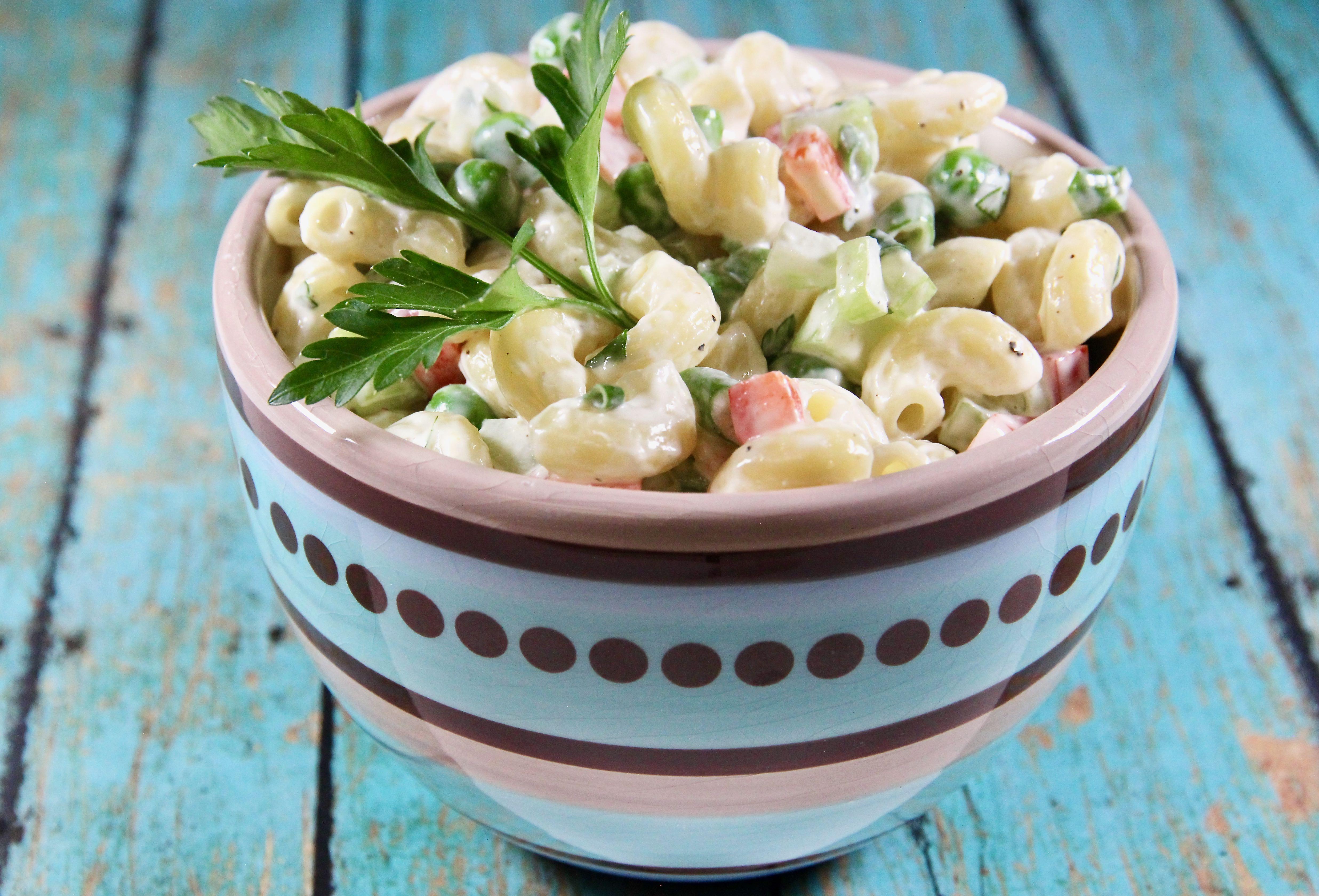 Macaroni Salad with Peas_image