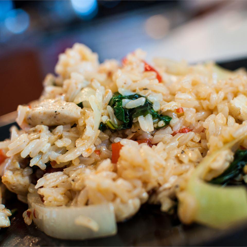 Thai Spicy Basil Chicken Fried Rice ErinInVegas
