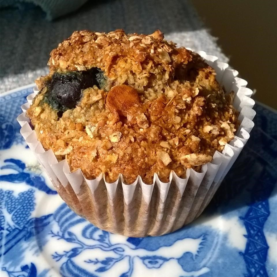 Blueberry Nut Oat Bran Muffins image