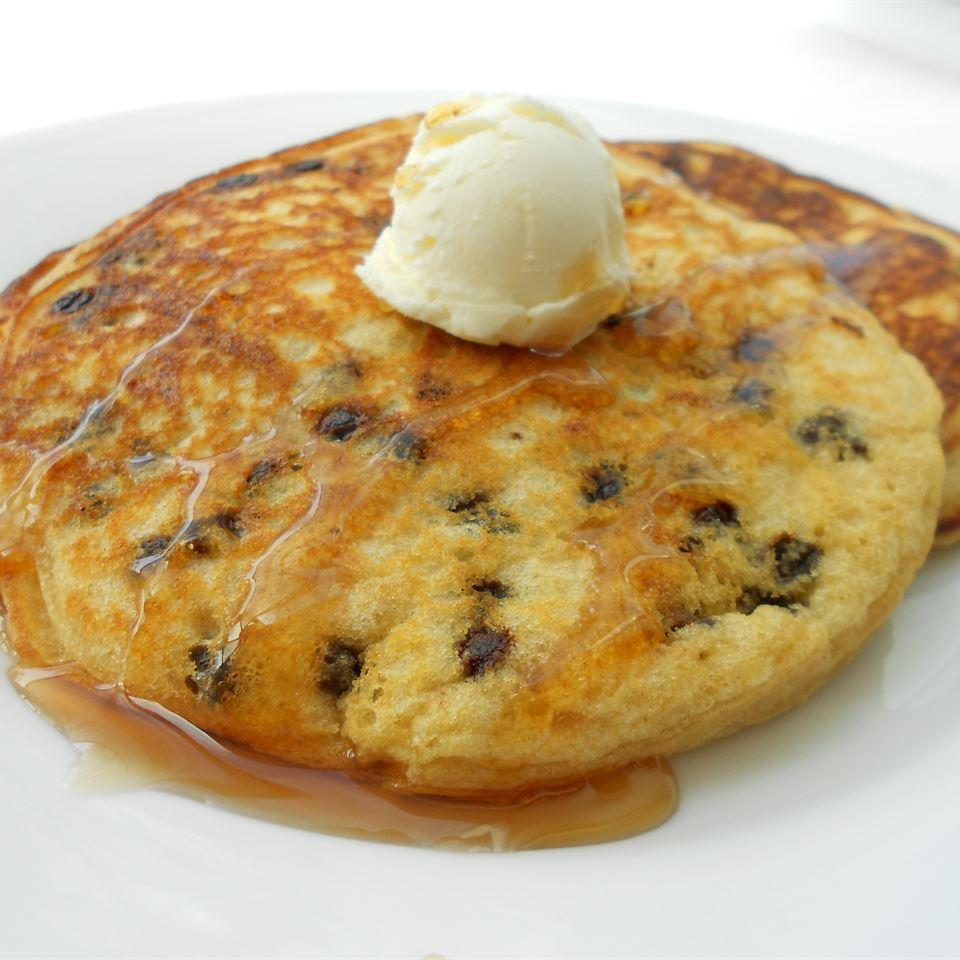 Lighter Chocolate Chip Pancakes