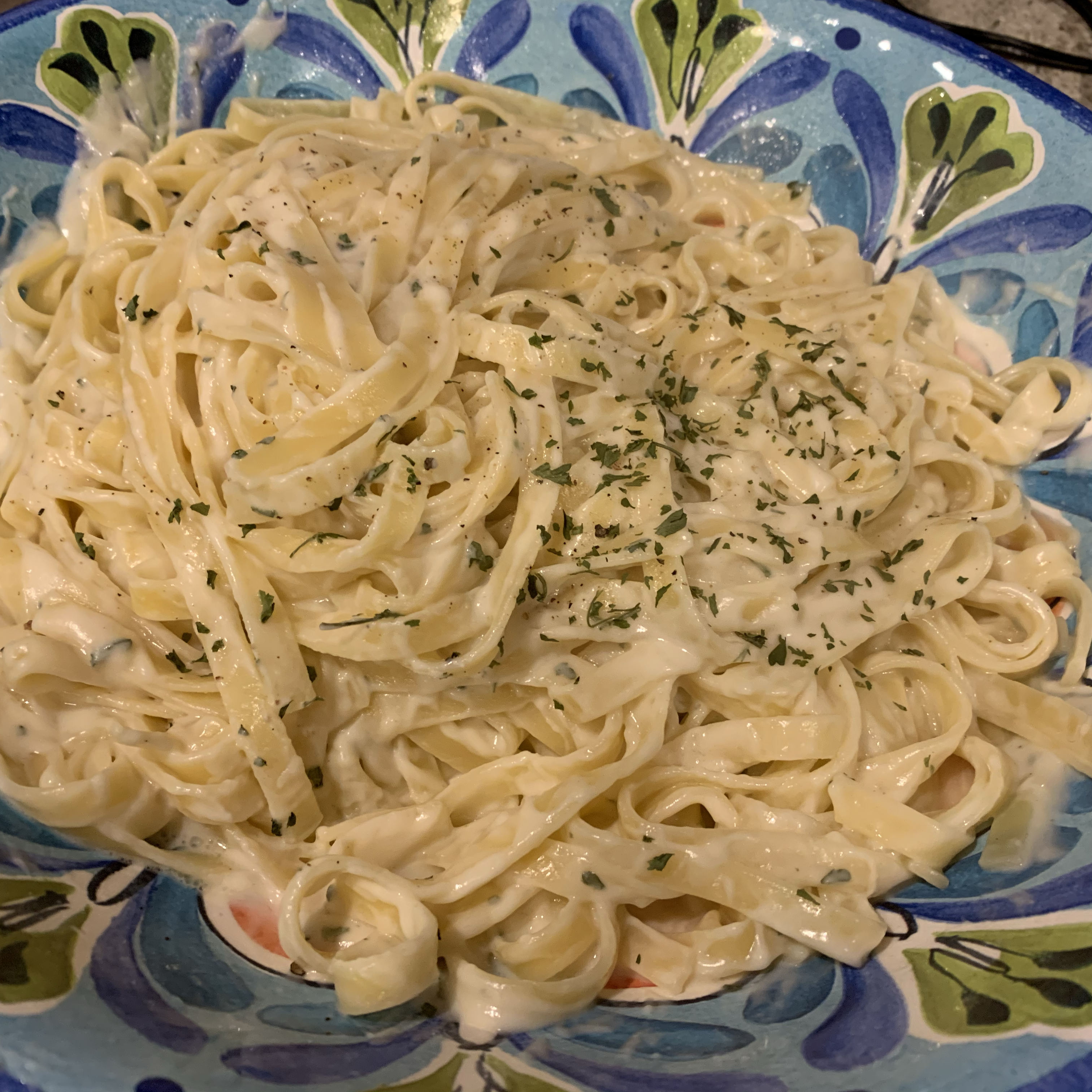 alfredo sauce with fat free half and half