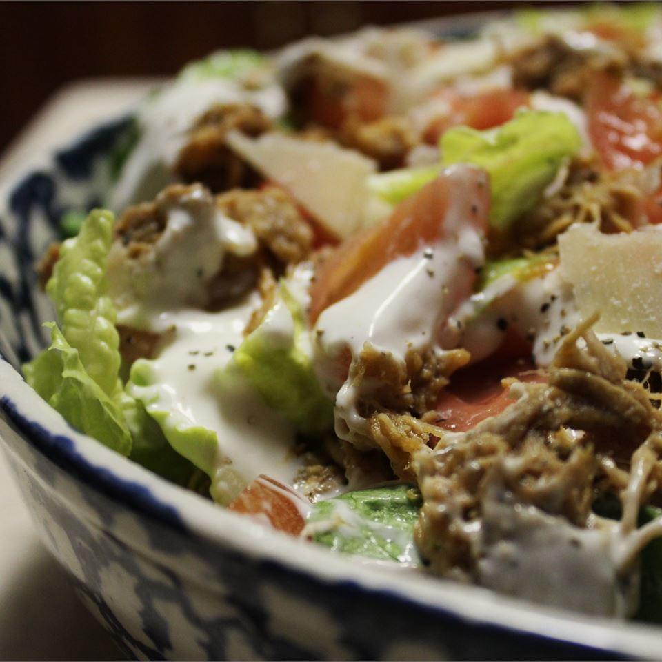 Easy and Fast Cajun Chicken Caesar Salad image