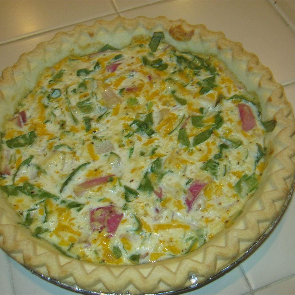 Eggless Tofu Spinach Quiche afrikeys