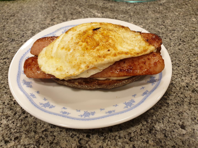 Cajun Egg Sandwich image