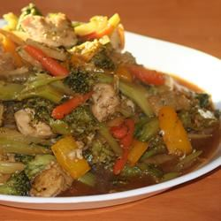 Sweet and Spicy Stir Fry with Chicken and Broccoli