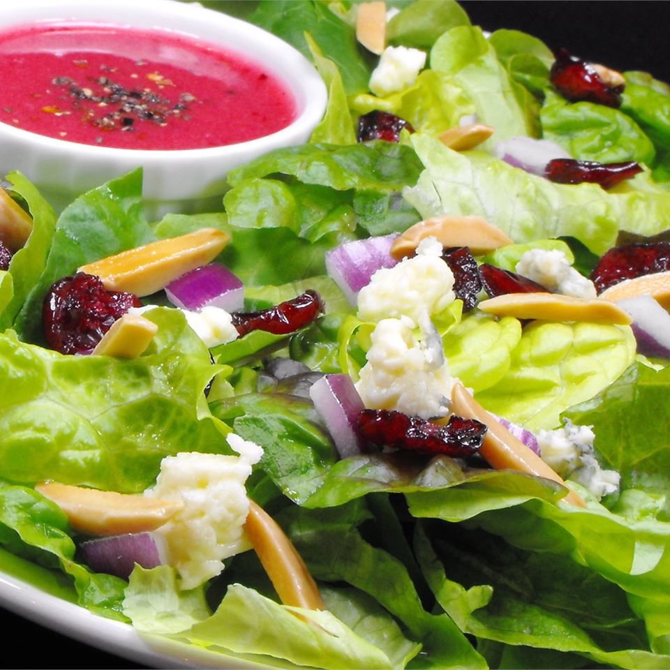 Green Salad With Cranberry Vinaigrette Recipe Allrecipes