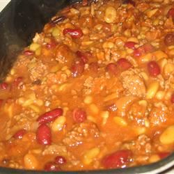 Calico Beans with Beef and Bacon