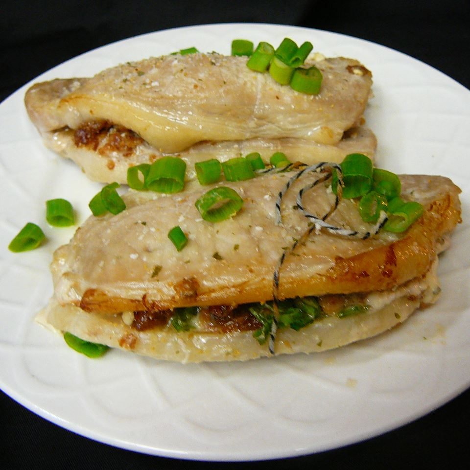 Blue Cheese, Bacon and Chive Stuffed Pork Chops Molly