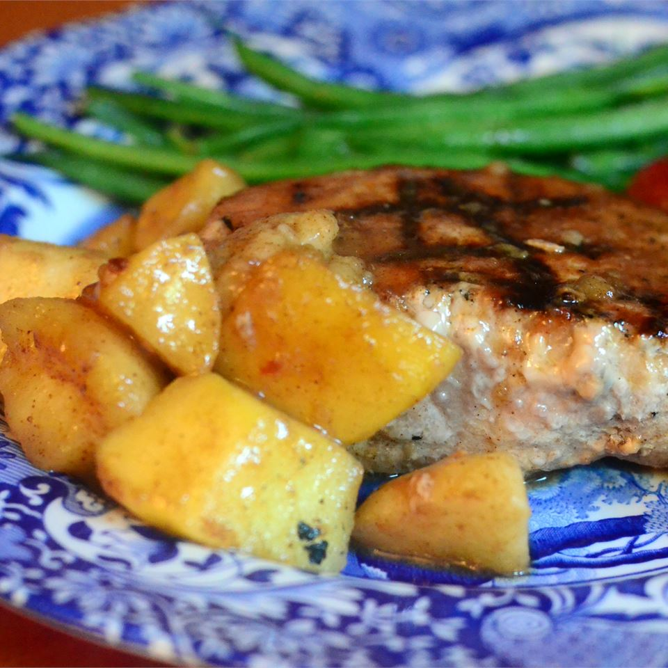 Momma Pritchett's Grilled Pork Chops and Apple-Pear Topping Dianne Pritchett