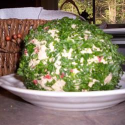 April's Roasted Red Pepper Cheese Ball