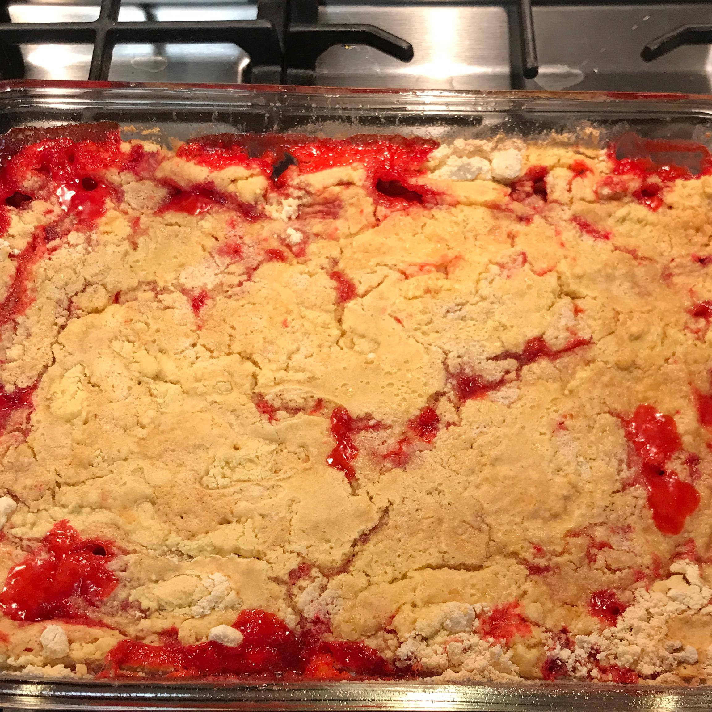 Rhubarb and Strawberry Dump Cake_image