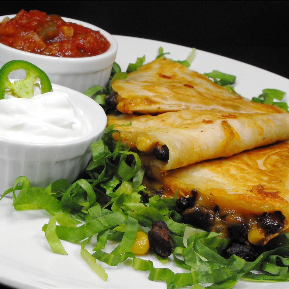 Black Bean and Corn Quesadillas image