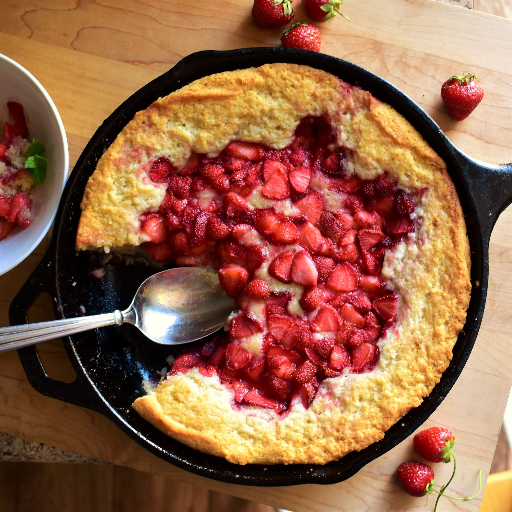 Strawberry Spoon Cake image