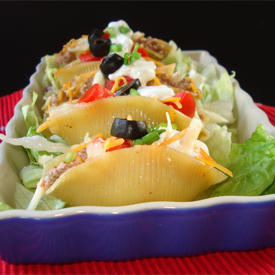 Tacos in Pasta Shells Shearone