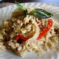 Thai Spicy Basil Chicken Fried Rice