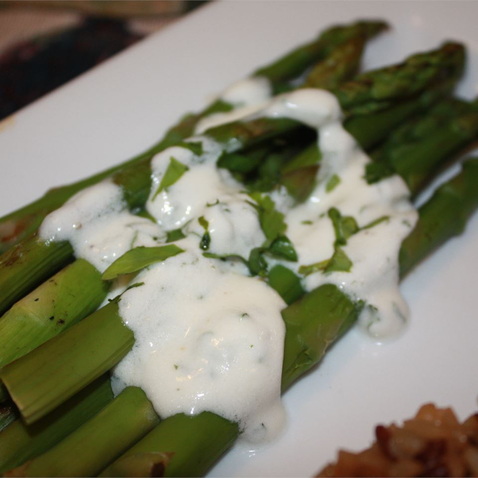 Grilled Asparagus with Cilantro Lemon Butter thedailygourmet