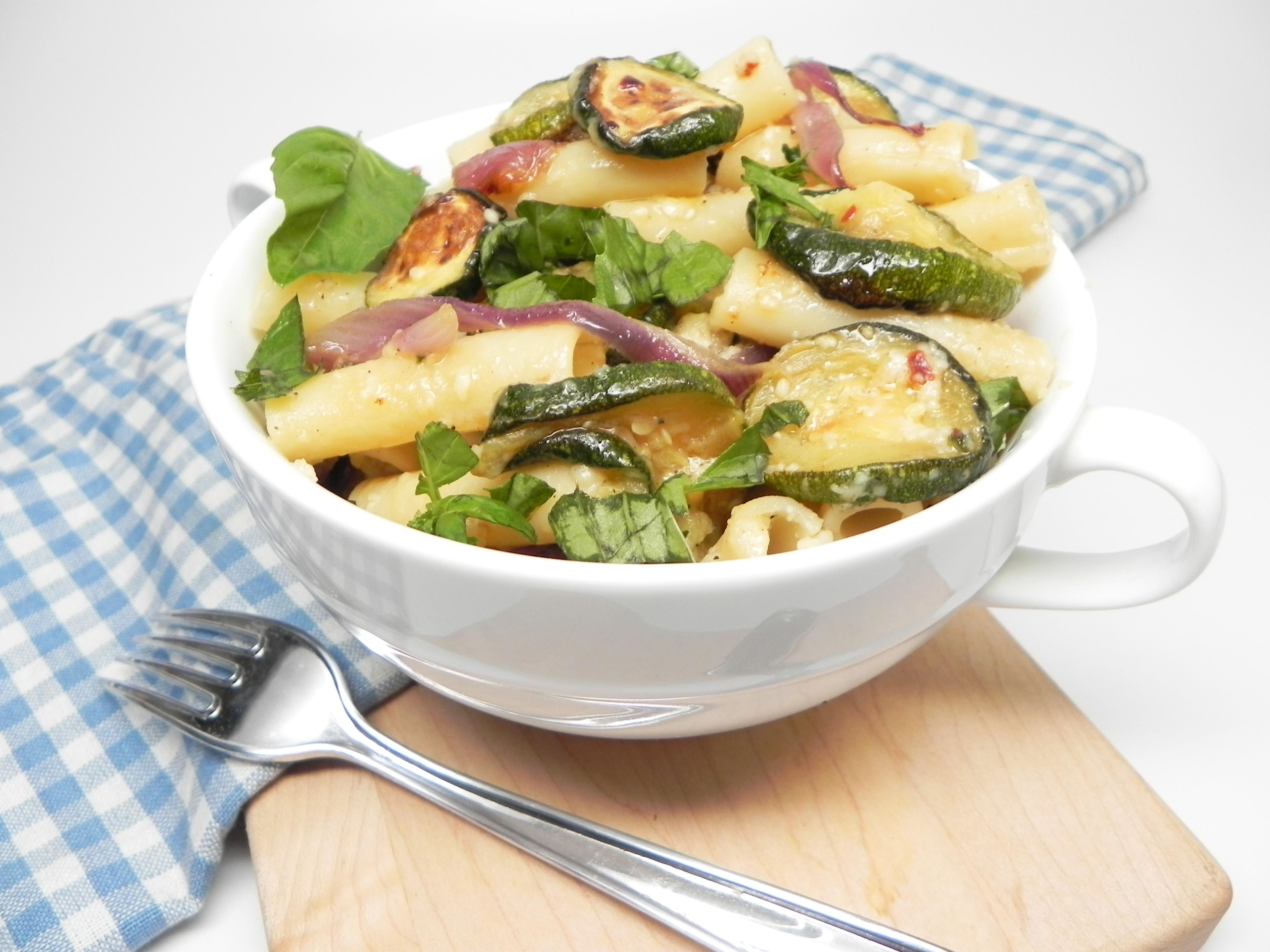Ziti with Roasted Zucchini and Garlic image