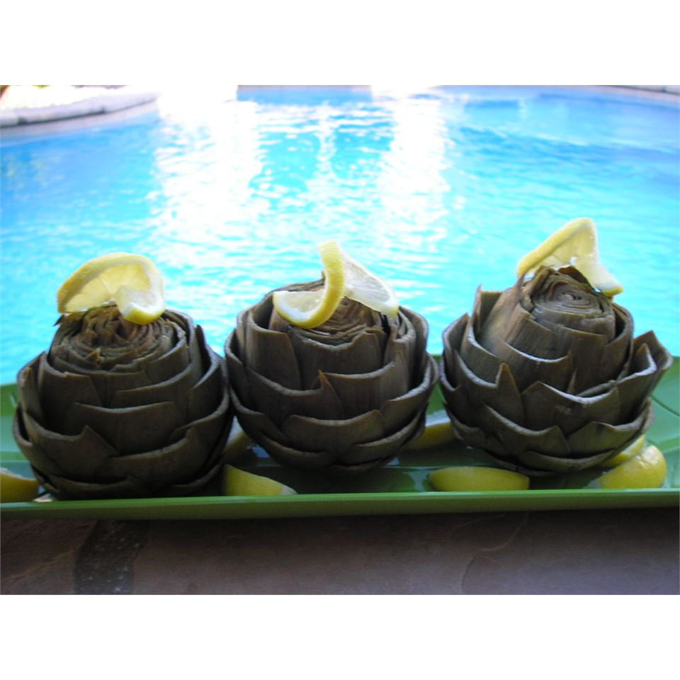 Simple Steamed Artichokes