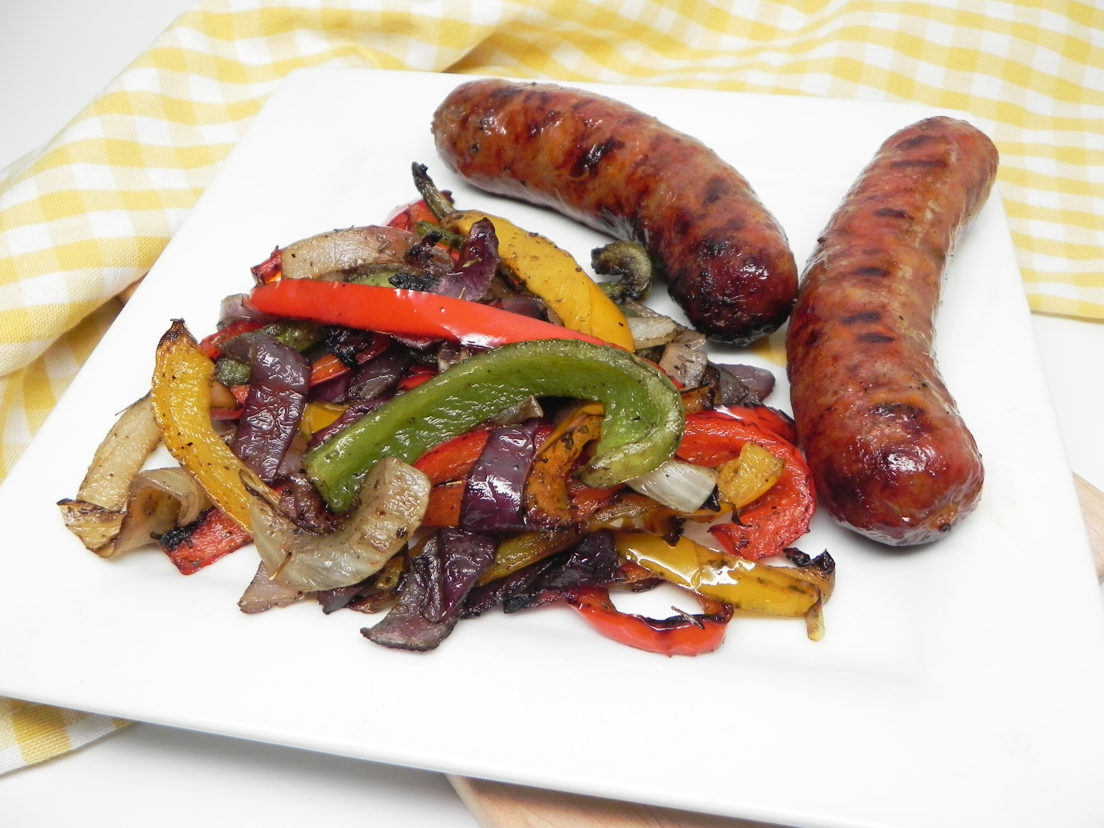 Grilled Italian Sausage with Peppers and Onions image