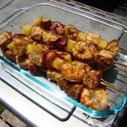 Simmering Chicken Strawberry Kabobs Shauna